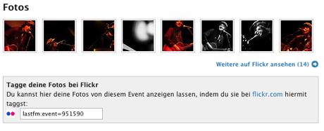 Fotobereich auf einer last.fm Konzertseite