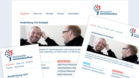 Webseite der Werkstatt für Gemeindeaufbau