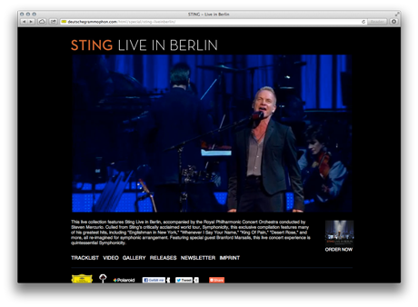 Sting - Live in Berlin / Deutsche Grammophon