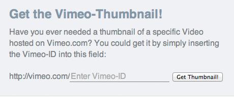 Get Vimeo Thumbnail