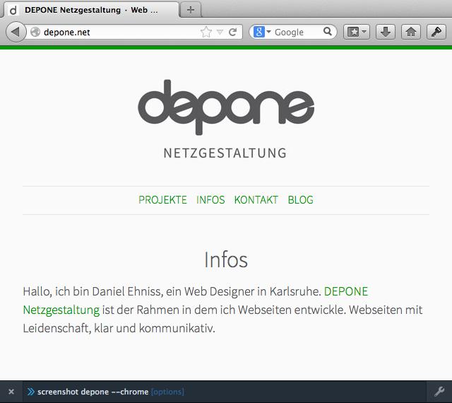 Bildschirmfoto mit dem Firefox